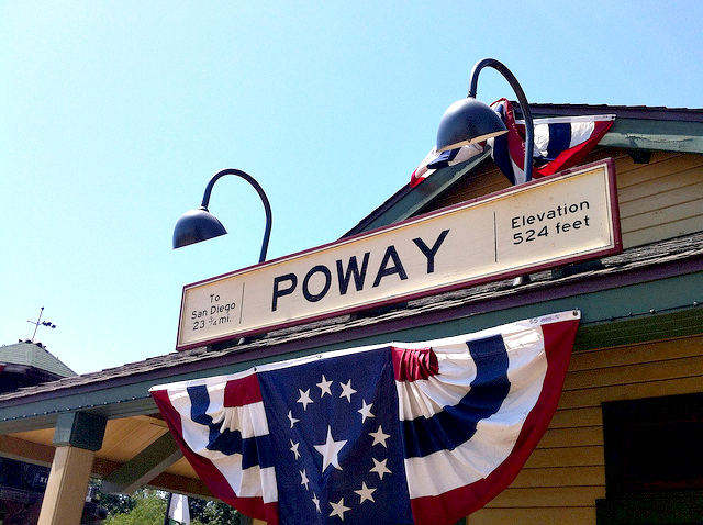 Poway-Midland Railroad ticket office. By Sue Walsh