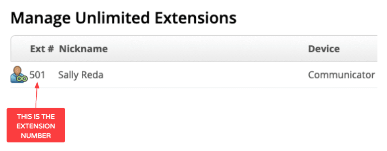 Extension page