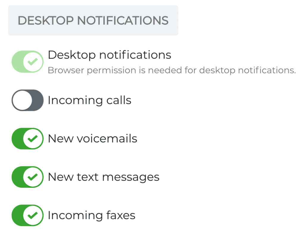 Text message notification