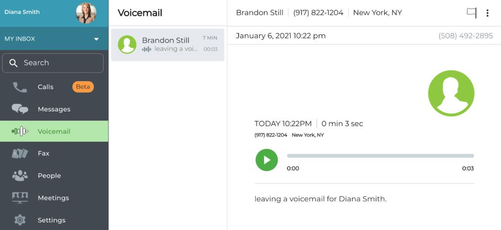 Voicemail rea
