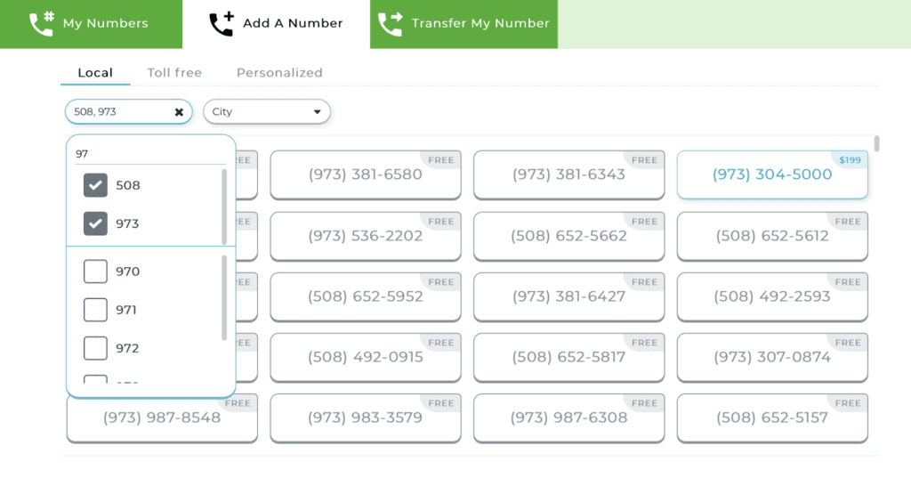 Add a local number